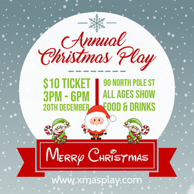 Christmas Play Online Invitation Advert