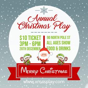 Christmas Play Online Invitation Advert