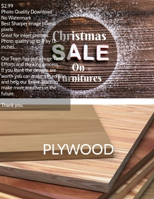 Christmas plywood sale event flyer template