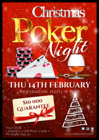 Christmas Poker Night Poster