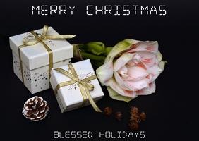 Christmas Postcard Postal template