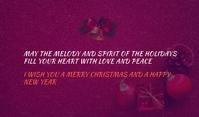 Christmas postcard Etiqueta template