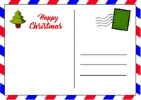 Christmas Postcard Briefkaart template