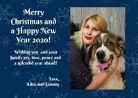 Christmas postcard Carte postale template
