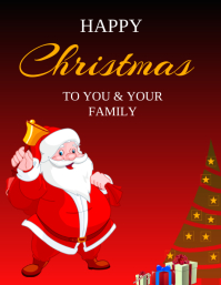 CHRISTMAS POSTER CARD FLYER TEMPLATE Pamflet (VSA Brief)