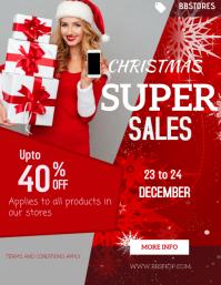 Christmas poster 传单(美国信函) template