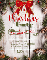 Christmas Poster Volante (Carta US) template