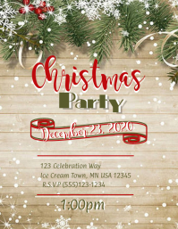 Christmas Poster Flyer (US Letter) template