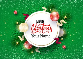 Christmas Poster Briefkaart template