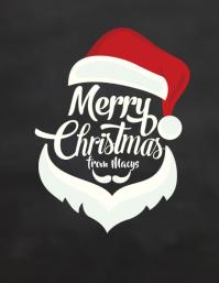 Christmas Poster Merry Santa