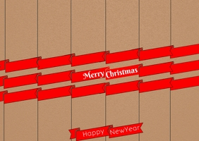 Christmas poster post card template