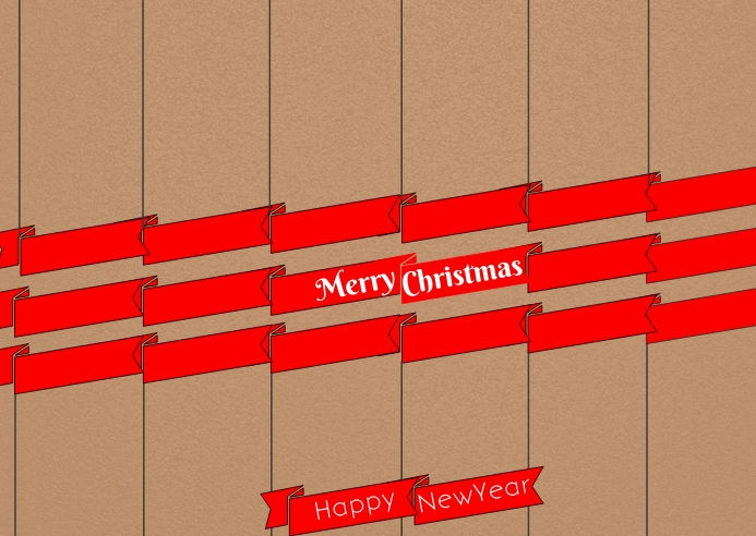 Christmas poster post card template 明信片
