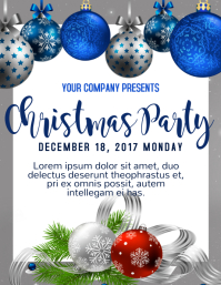Christmas Template. Christmas Party Flyer  Christmas Poster Template