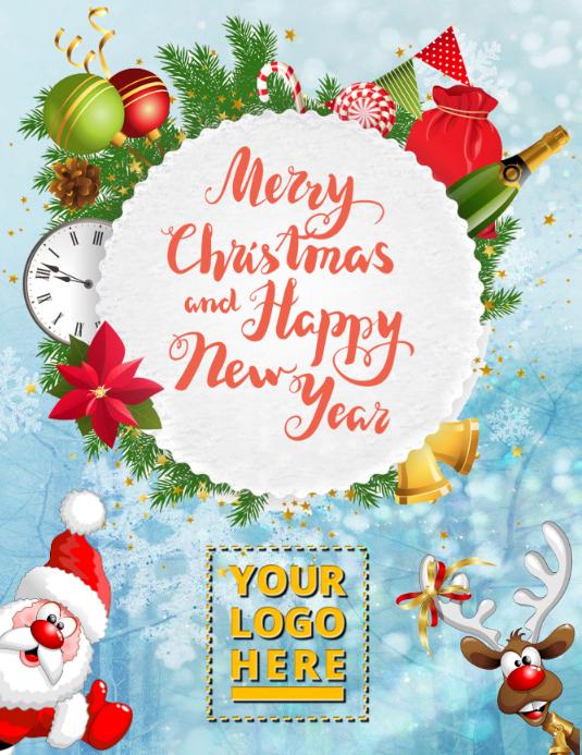 Christmas template Flyer (US Letter)
