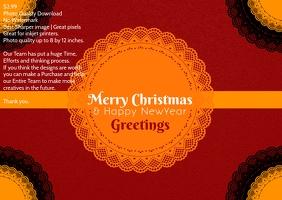 Christmas poster template Poskaart
