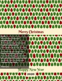 Christmas poster template design