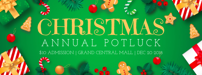 Christmas Potluck Public Event Facebook Cover template