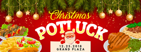 Christmas Potluck with Santa Invite Facebook Cover template