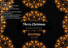 Christmas premium design poster template