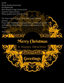 Christmas premium design poster template
