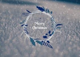 Christmas premium 明信片 template