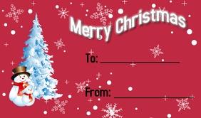Christmas Present Tag Merker template