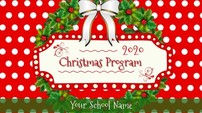 Christmas Program Digital Display template