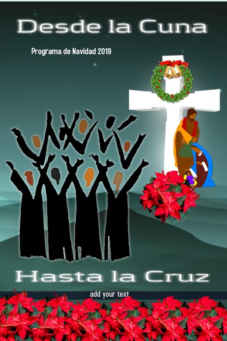 Christmas program/navidad/church/choir Bannière 4' × 6' template