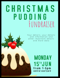 Christmas pudding fundraiser