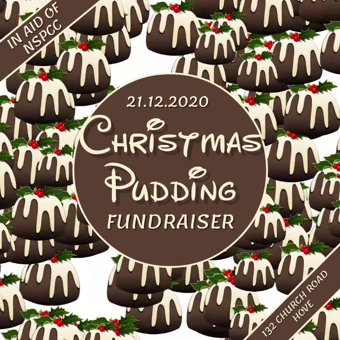 Christmas Pudding Fundraiser Video Template