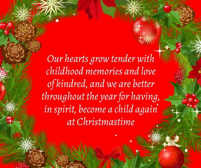 Christmas Quote Middelgrote rechthoek template