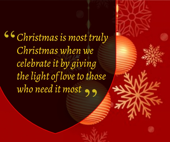 Christmas Quote Medium Rectangle template