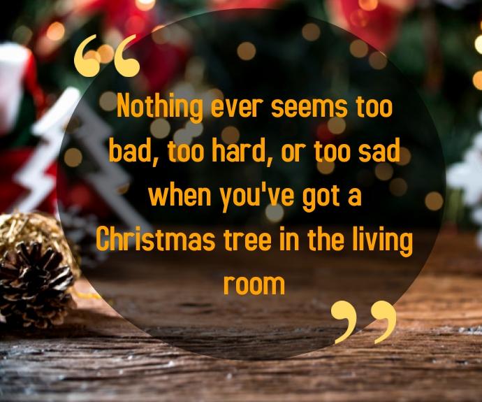 Christmas Quote Umugqa Ophakathi template