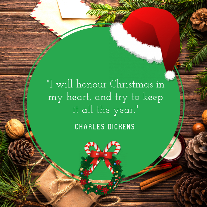 Christmas Quote Instagram template