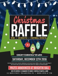 Christmas Raffle Flyer (US Letter) template