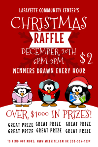 Customizable design templates for christmas raffle postermywall christmas raffle pronofoot35fo Image collections