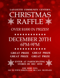 Customizable design templates for raffle postermywall christmas raffle pronofoot35fo Image collections