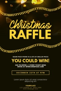 Christmas Raffle Flyer Template video Poster