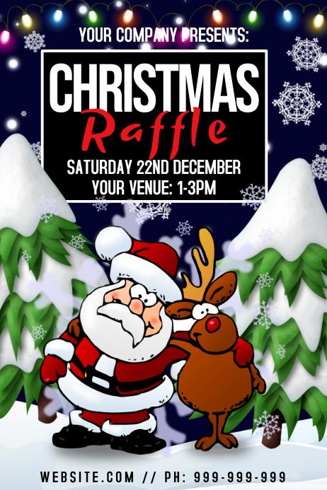 Christmas Raffle Poster