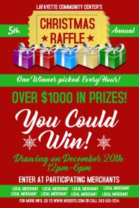 Christmas Raffle Poster template