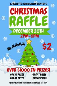 5 950 Christmas Raffle Customizable Design Templates Postermywall