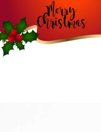 Christmas Reindeer Flyer (US Letter) template