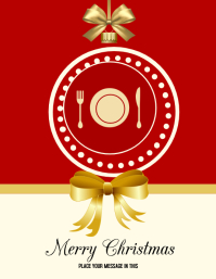 Christmas restaurant greeting flyer template