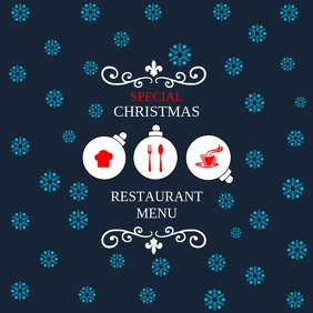 Christmas restaurant menu poster template