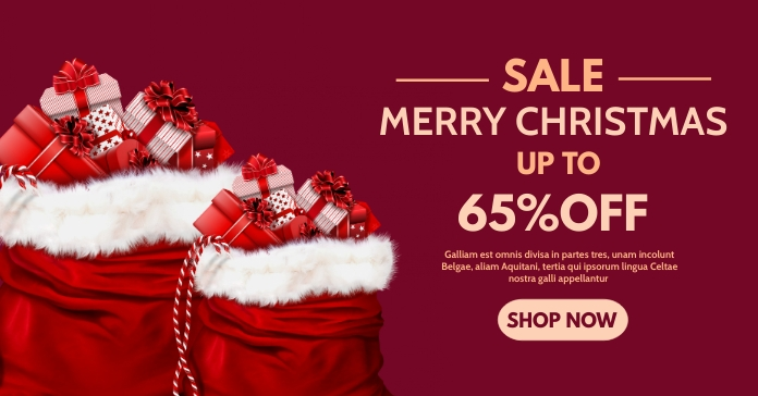 christmas retail advertisement facebook and s template