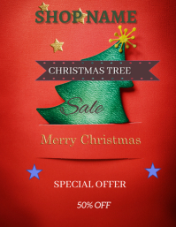 Christmas Retail Folheto (US Letter) template