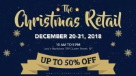 Christmas Retail Facebook Banner Video