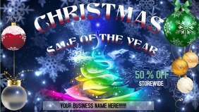 Christmas retail sale