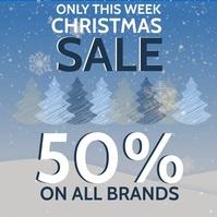 CHRISTMAS RETAIL SALE EVENT Flyer Template Instagram Plasing
