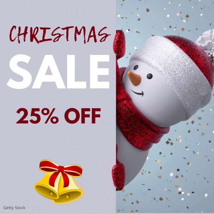 Christmas Retail Sale Video Ad Message Instagram template
